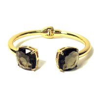 Black Diamond Like Crystal Cuff Bracelet