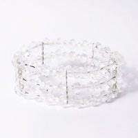 Sparkling Multi Strand Clear Lucite Stretchy Bracelet