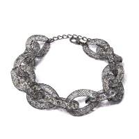 Shimmering Black Mesh Chain Link Bracelet