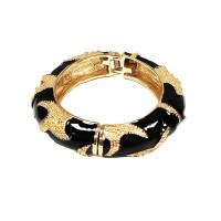 Chic Black Enamel Lacquer Starfish Bangle Bracelet