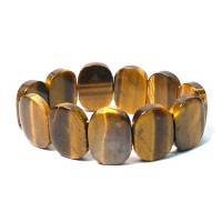 Handcrafted Lustrous Genuine Tigereye Stretchy Bracelet