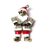 Holiday Santa Claus Pave Brooch