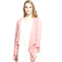 Versatile Peach Carefree Short Cardigan