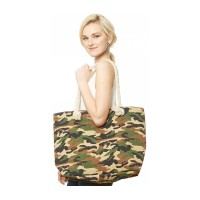 Oversize Camouflage Tote Bag