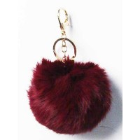 "3.5"" Furry Pom Bag Charm Key Chain"