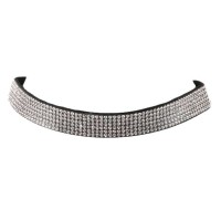 GLAMOROUS SPARKLING CLEAR RHINESTONE CHOKER NECKLACE
