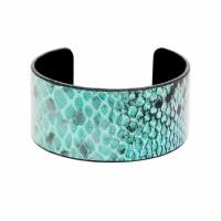 Chic Turquoise Snake Skin Cuff Bangle Bracelet