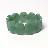 Exotic Tibetan Apple Green Jade Stretchy Bracelet