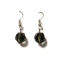 Black Dangling Silver Earrings