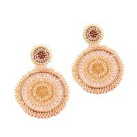 FABULOUS HANDMADE MULTI-BEAD JUMBO AROUND STATEMENT EARRINGS
