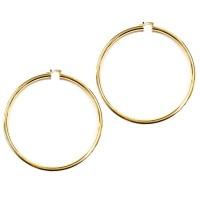 Stunning Modern Gold Thick Oversized Hoop Earrings