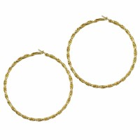 Gorgeous Twisted Rope Gold Oversized Hoop Earrings