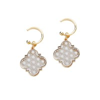 Moroccan Gold Filigree Dangle Earrings