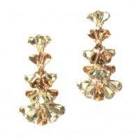 Stunning 5 Tiers Crystal Drop Statement Earrings