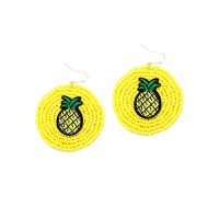 Dazzling Pineapple Drop Statement Earrings