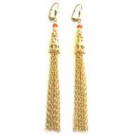 Dazzling Gold Carnelian Cascading Earring