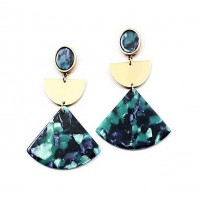 Gorgeous Jumbo Green Statement Earrings