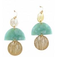 Gorgeous Mint Filigree Dangle Earrings