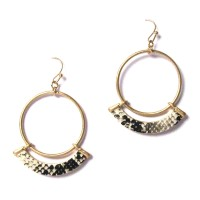 Chic Snake Skin Hoop Statement Earrings