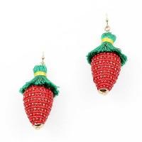Whimisical Strawberry Tassel Drop Earring