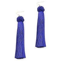 Criss Cross Knot Fringe Drop Statement Earrings