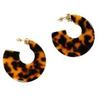 Stunning Jumbo Chic Tortoise Round Hoop Earrings