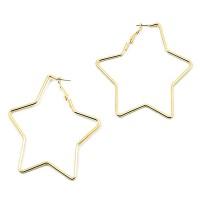 Jumbo Star Gold Hoop Statement Earrings