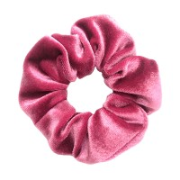 Burgundy Velvet Hair Scrunchie