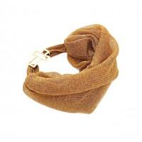 Romantic Gold Metallic Mesh Headband Scrunchy