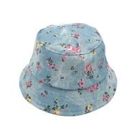Gorgeous Denim Blue Floral Bucket Hat