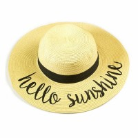 Chic 'Hello Sunshine' Floppy Statement Hat
