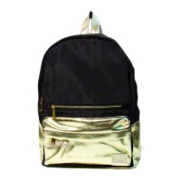 Gold Black Roomy Luxe Sporty Backpack
