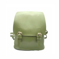 The Modern Buckle Strap Leather Backpack