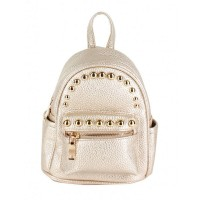 Gorgeous Studs Strap Leather Backpack Bag