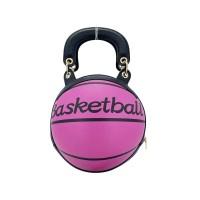 FASHION FUCHSIA BASKETBALL TOP HANDLE SHOULDER BAG