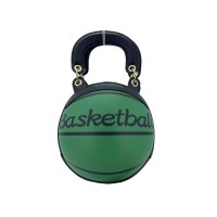 Fashion Green Basketball Top Handle Shoulder Bag