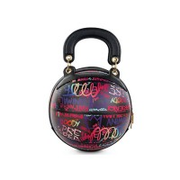 Fashion Purple Multi Graffiti Print Basketball Top Handle Shoulder Bag