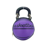 Fashion Purple Basketball Top Handle Shoulder Bag