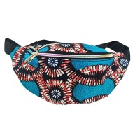 Boho Teal Abstract Pattern Belt Bag Fanny Pack