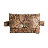 Chic Brown Python Clutch Belt Bag