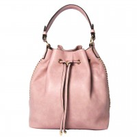 Handsome Inspired Pink Tassel Bucket Drawstring Shoulder Bag