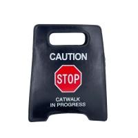 Stunning Black Caution Sign Novelty Clutch Bag