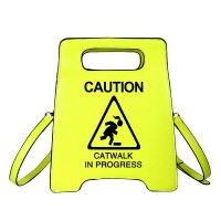 Stunning Yellow Caution Sign Novelty Clutch Bag