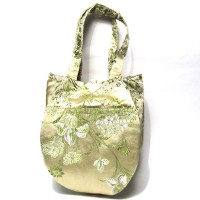 Gorgeous Handmade GreenTeardrop silk brocade purse handbag