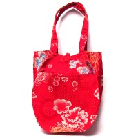 Gorgeous Handmade Red Teardrop silk brocade purse handbag