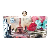 Around The World Fashion Clutch Purse