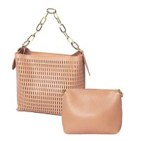 Romantic Blush Pink Cut Out 2 In 1 Tote Bag