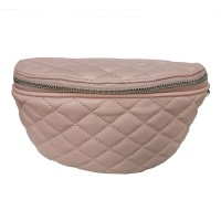 ROMANTIC PINK QUILTED BELT BAG