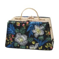 Fabulous Ornate Floral Rhinestone Top Handle Bag