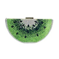 Luxe Shimmering Slice Of Lime Clutch Bag